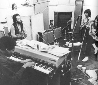 Beatles mit Billy Preston im Studio