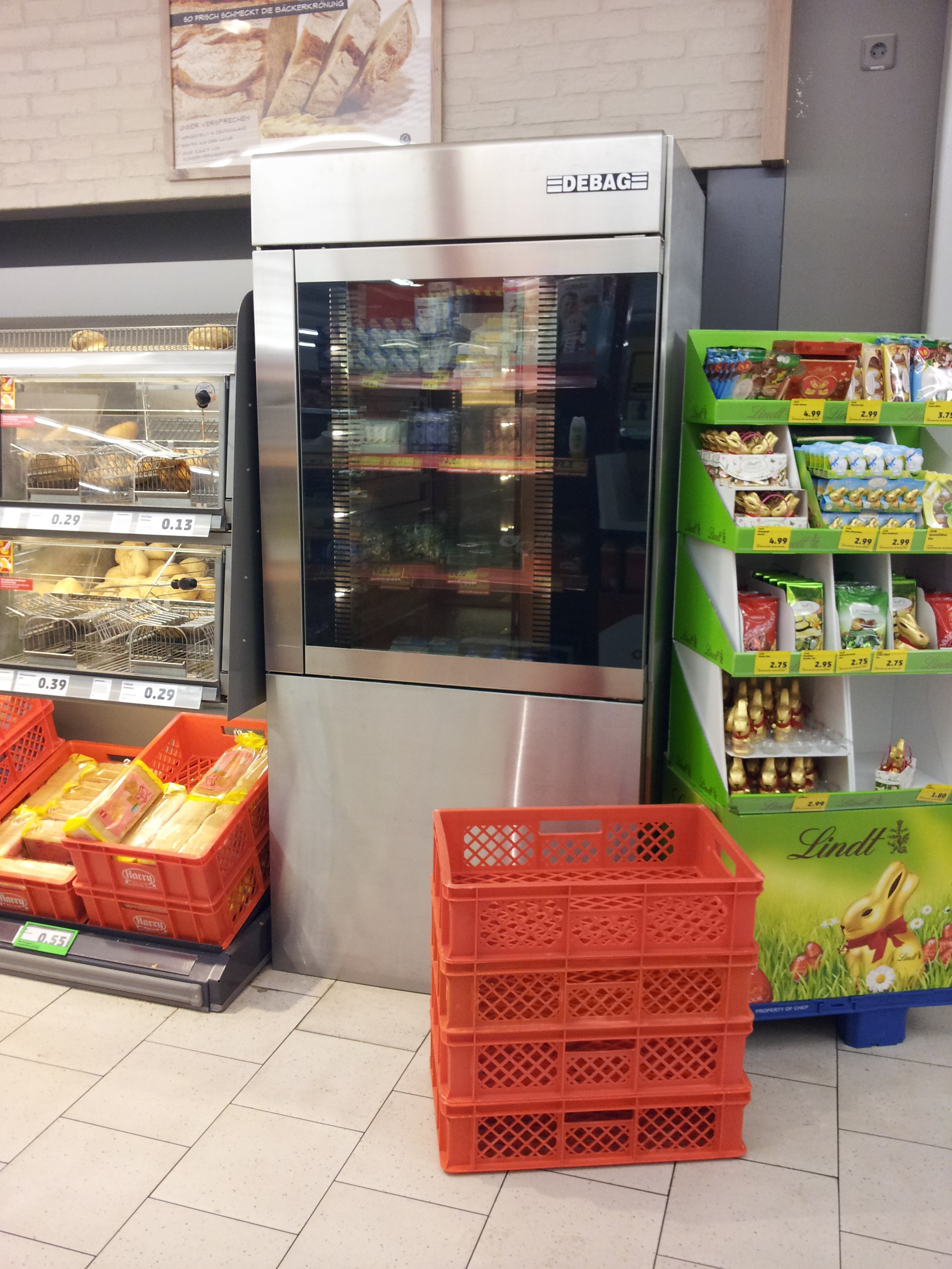 Backautomat in Supermarkt